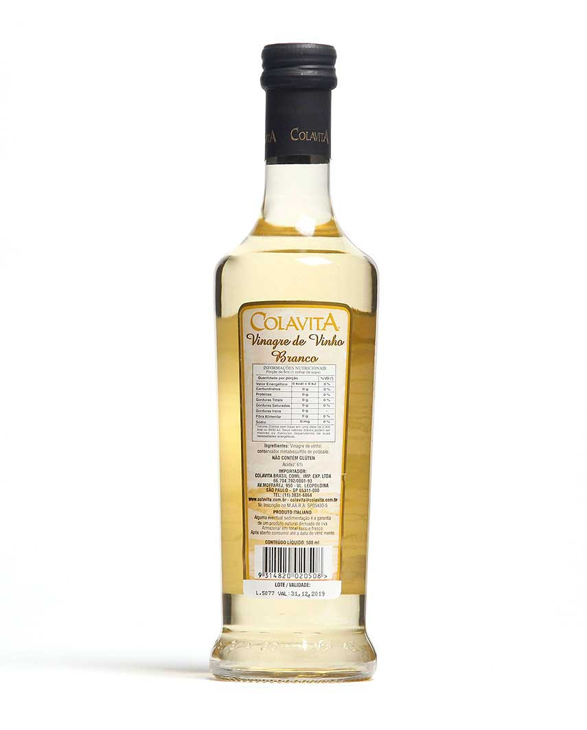 Vinagre Vino Bianco Prosecco Colavita 500ml