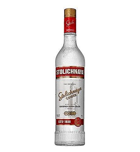 Vodka Original Stolichnaya 2 Cups 750ml