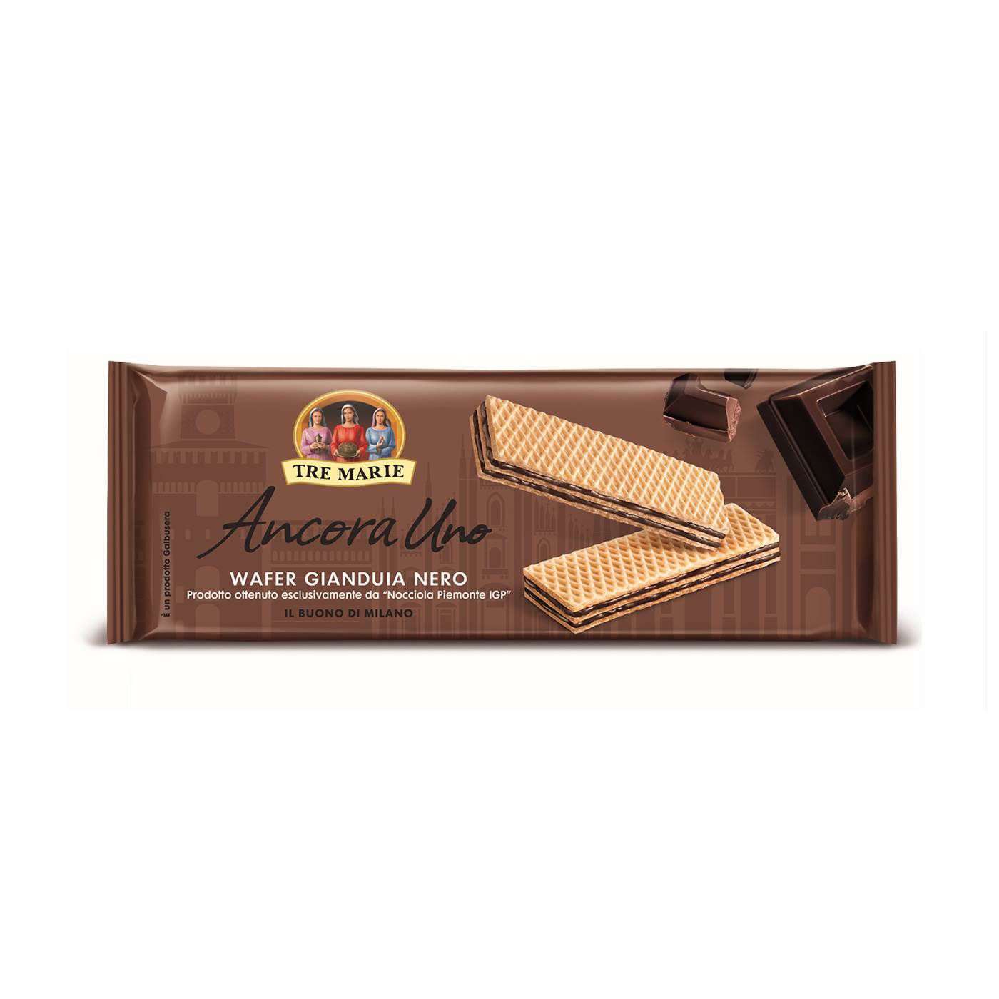 Wafer Gianduia Nero Tre Marie 175gr