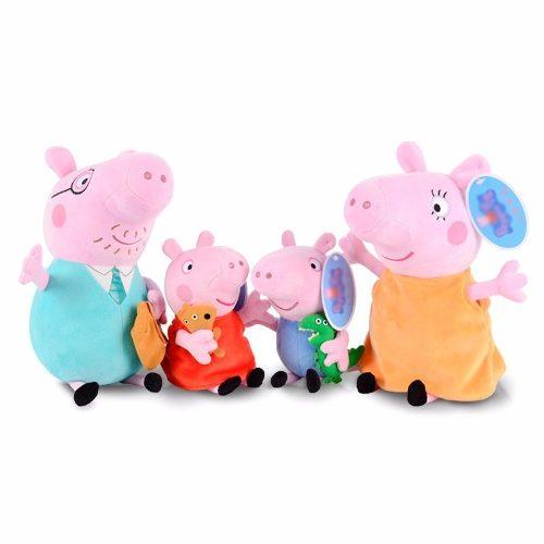 Peppa Pig E Familia 4 Personagens De Pelucia