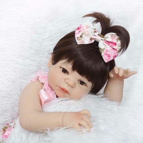 Bebê Reborn Realista 55 Cm TODA Vinil e Silicone
