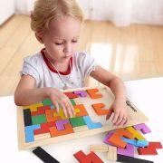 Jogo Tangram Em Madeira Quebra-cabeça Brinquedo Educativo