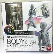 Figuarts Body Chan DX Mulher Color Cinza Pele Bandai 13Cm
