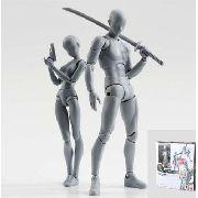 Figuarts Body Kun E Chan Homem E Mulher Gray Color Bandai