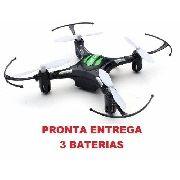 Mini Drone Quadricóptero H8 Preto 3 Baterias