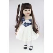 American Doll Agatha Menina 45 cm Vinil Siliconado - Sob Encomenda