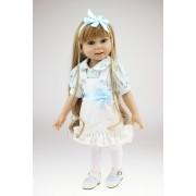 American Doll Hellen Menina 45 cm Vinil Siliconado - Sob Encomenda