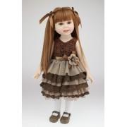 American Doll Ingrid Menina 45 cm Vinil Siliconado - Sob Encomenda