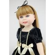 American Doll Rafaela Menina 45 cm Vinil Siliconado - Sob Encomenda