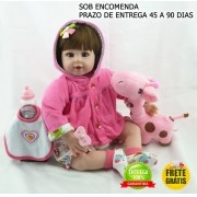 Bebê Reborn Amanda Realista 52 Cm - Sob Encomenda