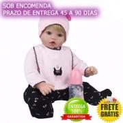 Bebe Reborn Boneca Reborn Ângela 50cm Sob Encomenda