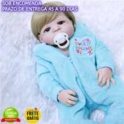 Bebê Reborn Menino Antonio 100% Silicone Sob Encomenda
