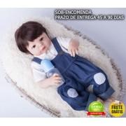 Bebê Reborn Menino César 100% Silicone Sob Encomenda