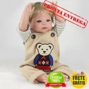 Bebê Reborn Menino Pedrinho 100% Silicone