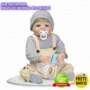 Bebe Reborn Menino Todo Vinil Silicone 55 CM - Sob Encomenda