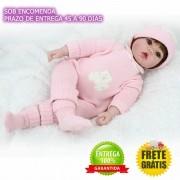 Bebê Reborn Realista Letícia 50 Cm - Sob Encomenda