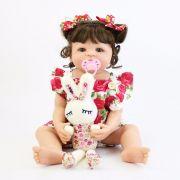 Bebê Reborn Renata 55 Cm TODA Vinil e Silicone Coelinho