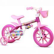 Bicicleta Infantil Feminina Aro 12 Nathor Flower