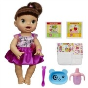Boneca Baby Alive Hora de Comer Morena A8346 Hasbro