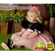 Boneca Bebê Menina Reborn 55 cm - Sob Encomenda
