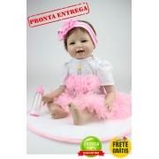 Boneca Bebe Reborn Bailarina 55cm