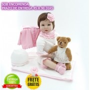 Boneca Bebê Reborn Clarice 55 cm Sob Encomenda