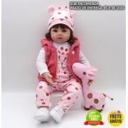 Boneca Bebê Reborn Gisele Girafa de Brinde - Sob Encomenda