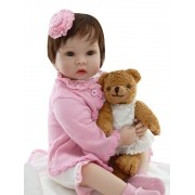 Boneca Bebê Reborn Clarice 55 cm