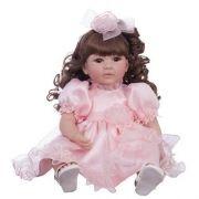 Boneca Laura Doll Pink Rose - Bebe Reborn - 1502