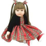 Boneca Laura Doll Red Chess - Bebe Reborn