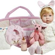 Boneca bebe Reborn Molly e Fluffy Laura Doll 31017100