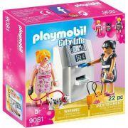 Caixa Eletrônico Playmobil da Sunny 9081 22 peças