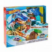 Conjunto Pista Hot Wheels City Ataque Tubarão Fnb21 Mattel