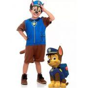 Fantasia Patrulha Canina Chase Infantil Curta Com Máscara