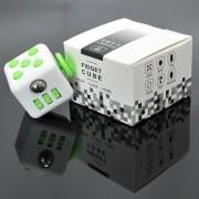 Fidget Cube Cubo Anti Stress Ansiedade Branco Verde