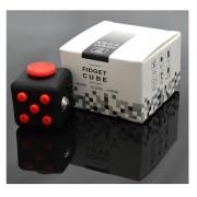 Fidget Cube Cubo Anti Stress Ansiedade Preto Vermelho