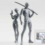 Figuarts DX Body Kun e Chan Homem e Mulher Cor Cinza Bandai
