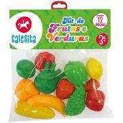 Kit Frutas E Verduras 12 Pecas Calesita 0209
