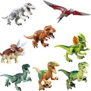 Kit Jurassic World Indominus Rex, T Rex  8 Dinossauros