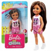 Mini Boneca Família Da Barbie Chelsea Morena Club Mattel