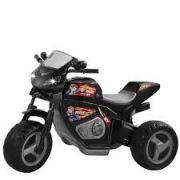 Moto Elétrica Infantil 6v Moto Max Turbo 1330L Magic Toys Preta
