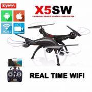 Quadricoptero Drone Syma X5SW-1 FPV Branco Preto + Brindes