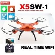 Quadricoptero Drone Syma X5sw-1 laranja Fpv Real +muitos Brindes