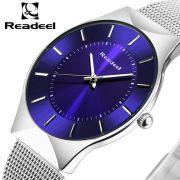 Relógio Readeel Slim Prata com Azul RD1276