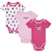 Kit Roupinha Bebê Menina Kit com 3 Peças