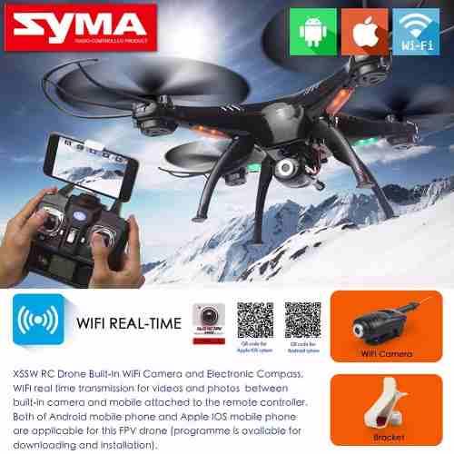 Quadricoptero Drone Syma X5sw-1 Fpv Real +muitos Brindes
