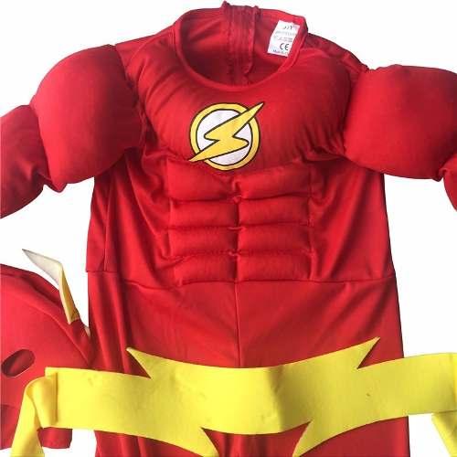 Fantasia Infantil do Flash c/ Máscara Original
