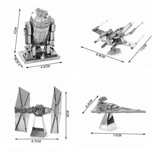 Quebra Cabeça 3d Metal Model Star Wars X Wing