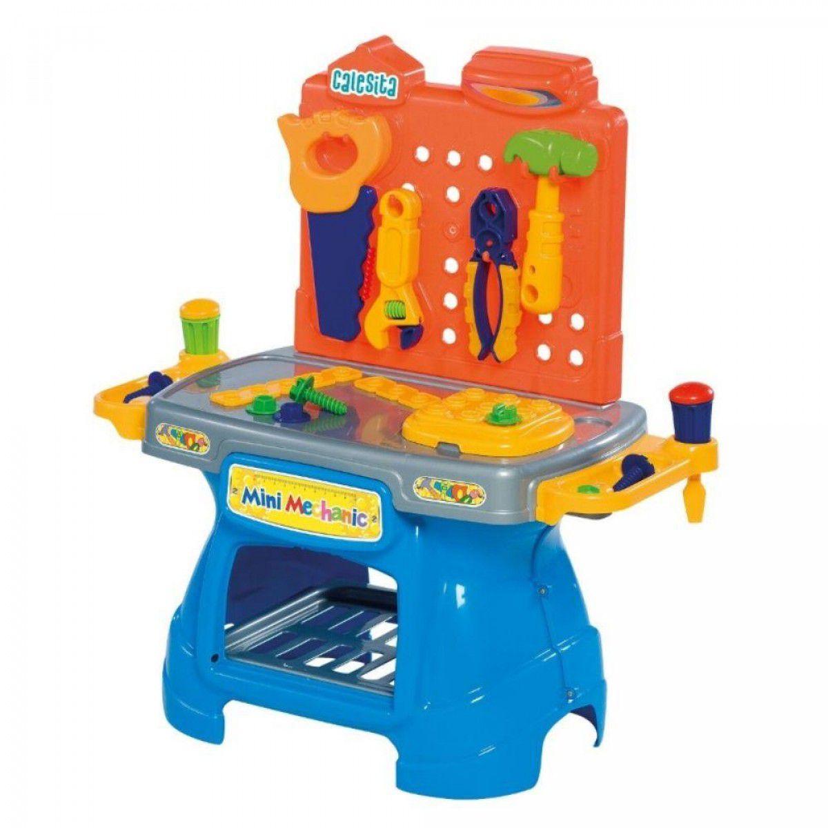Bancada De Ferramentas Infantil Mini Mechanic Calesita
