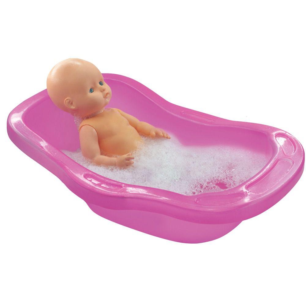 Banheira Para Boneca Pink 50 Cm Líder Brinquedos 2350